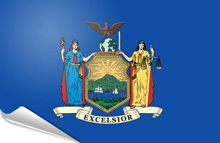 Adhesive flag New York State