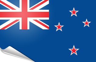 Adhesive flag New Zealand