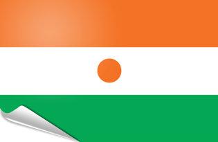 Adhesive flag Niger