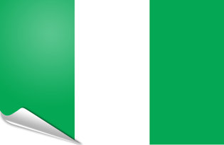 Adhesive flag Nigeria