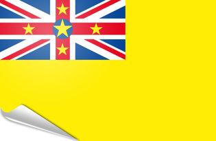 Adhesive flag Niue
