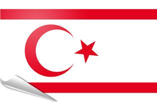 Adhesive flag North Cyprus