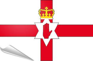 Adhesive flag Northern Ireland-Ulster