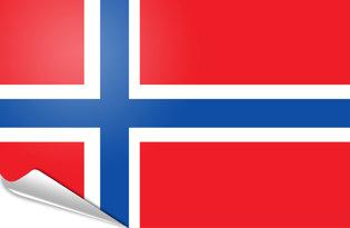 Adhesive flag Norway
