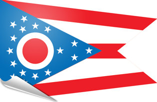 Adhesive flag Ohio