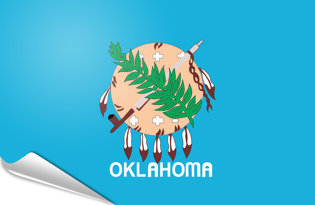 Adhesive flag Oklahoma