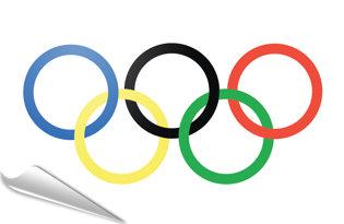 Adhesive flag Olympic Flag