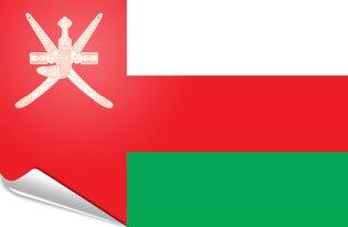 Adhesive flag Oman