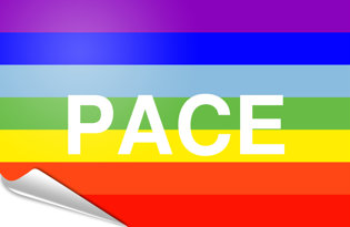 Adhesive flag Peace