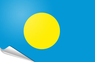 Adhesive flag Palau