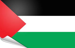 Adhesive flag Palestine