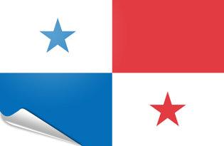 Adhesive flag Panama