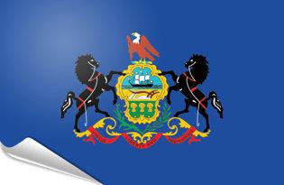 Adhesive flag Pennsylvania
