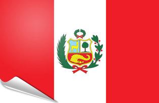 Adhesive flag Peru Lux