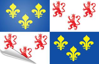 Adhesive flag Picardy