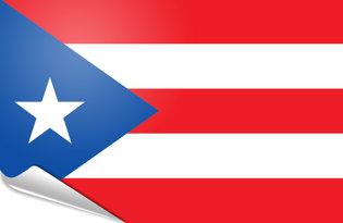 Adhesive flag Puerto Rico