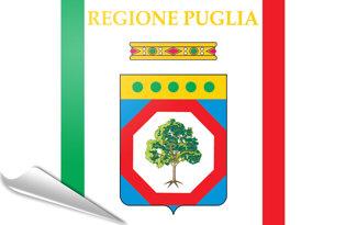 Adhesive flag Puglia