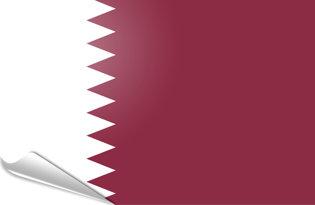 Adhesive flag Qatar
