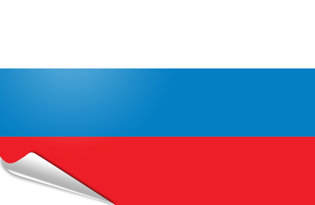 Adhesive flag Russia