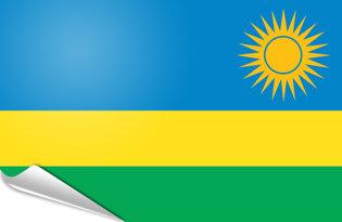 Adhesive flag Rwanda