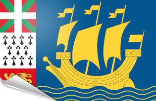 Adhesive flag Saint Pierre