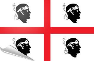 Adhesive flag Sardinia