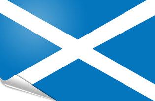 Adhesive flag Scotland