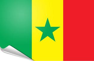 Adhesive flag Senegal
