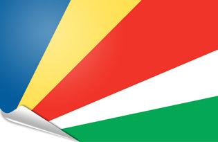 Adhesive flag Seychelles