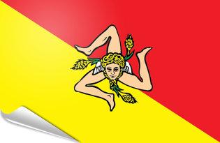 Adhesive flag Sicily