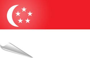Adhesive flag Singapore