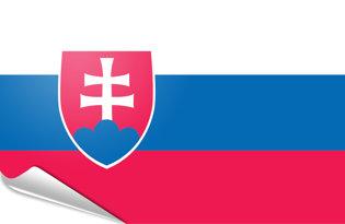 Adhesive flag Slovakia