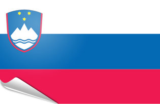 Adhesive flag Slovenia