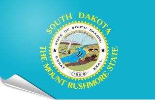 Adhesive flag South Dakota