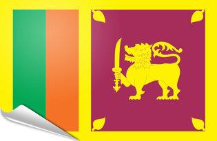 Adhesive flag Sri Lanka