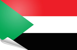 Adhesive flag Sudan