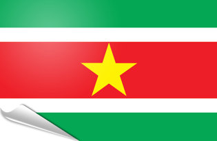 Adhesive flag Suriname