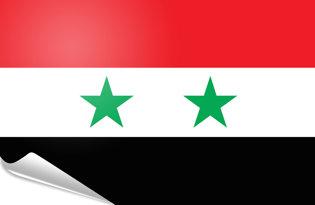 Adhesive flag Syria