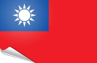 Adhesive flag Taiwan