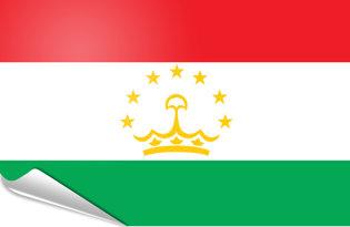 Adhesive flag Tajikistan
