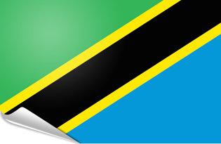 Adhesive flag Tanzania
