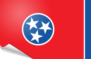 Adhesive flag Tennessee