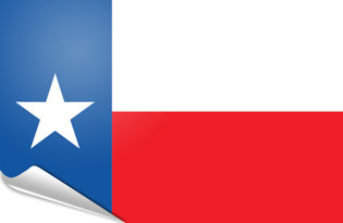 Adhesive flag Texas