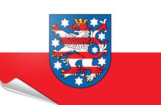 Adhesive flag Thuringia