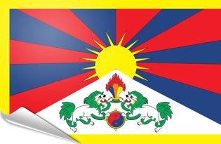Adhesive flag Tibet