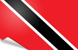 Adhesive flag Trinidad Tobago