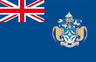 Adhesive flag Tristan da Cunha