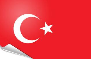 Adhesive flag Turkey
