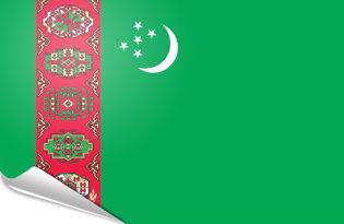 Adhesive flag Turkmenistan