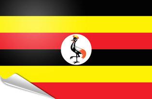 Adhesive flag Uganda